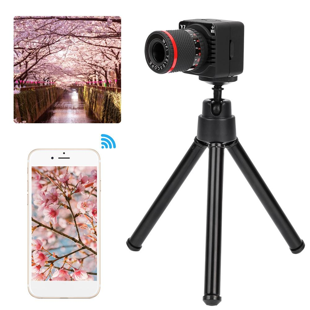 US $46 72 |Y7 Wifi P2P Zoom Camera Micro Camera APP Telescope 50X Zoom  Manual Focusing Camcorder Cam-in Camcorder Lenses from Consumer Electronics  on