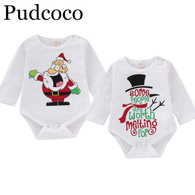 c7a6a921fbd14 US $3.19 |Pudcoco 2019 Brand New Christmas Kid Baby Boy Girl Clothes Santa  Claus Jumpsuit Bodysuit Outfit-in Bodysuits from Mother & Kids on ...