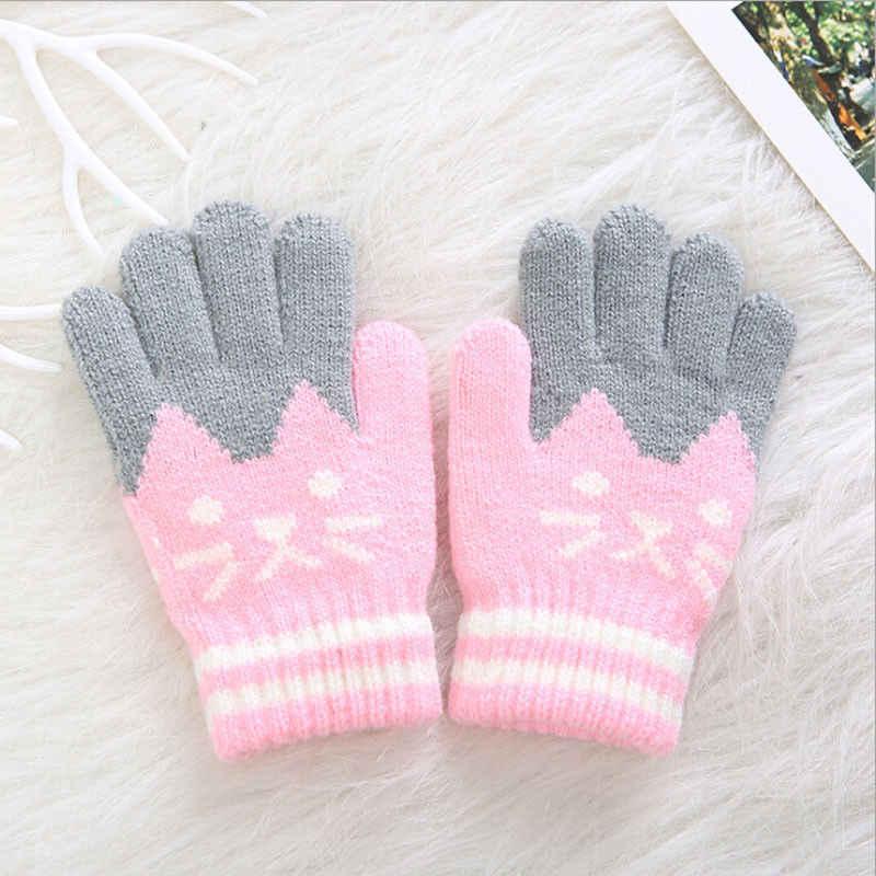 Emmababy nuevo niño niños niñas Unisex Casual invierno Bebé abrigado guantes gruesos mitones mágicos