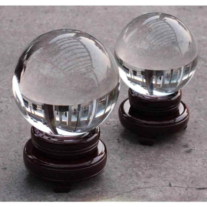 30/40/50/60/80mm מלאכותי קריסטל כדור ריפוי זכוכית כדור כדור קישוט קישוטי מתנות הסיני פנג שואי קישוט