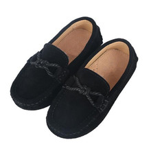 New Spring/Autumn Genuine Leather Shoes Children Loafers Boys Black School Dress Shoes Student Casual Flats Baby Kids Shoes 041 children kids boys leather shoes genuine leather shoes new black autumn boys school uniform dress shoes casual oxfords wide fit