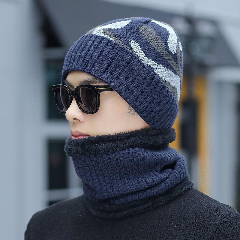 2019 New Warm Balaclava   Skullies     Beanies   Winter Hat Women Hats Caps Men Ski Mask Camouflage Knit Cap Knitted Scarf Gorros