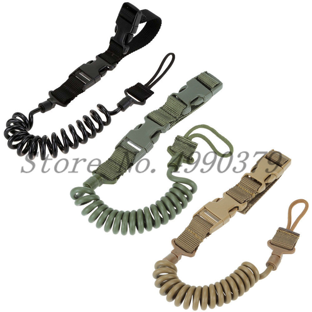 Tactical Two Point Rifle Sling Adjustable Bungee Tactical Airsoft Gun Strap System Paintball Gun Sling for Airsoft Hunting New-in Hunting Gun Accessories from Sports & Entertainment