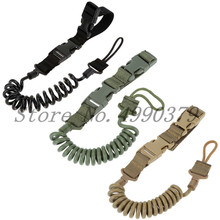 Tactical Two Point Rifle Sling Adjustable Bungee Tactical Airsoft Gun Strap System Paintball Gun Sling for Airsoft Hunting New tactical hunting gun sling adjustable 1 single point bungee rifle sling strap system new 3 colors