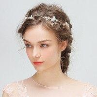 4pcs/set Bridal Wedding Hair Jewelry Artificial Flower Headband U Shape Hairpin Accessories Princess Girls Photography Headdress