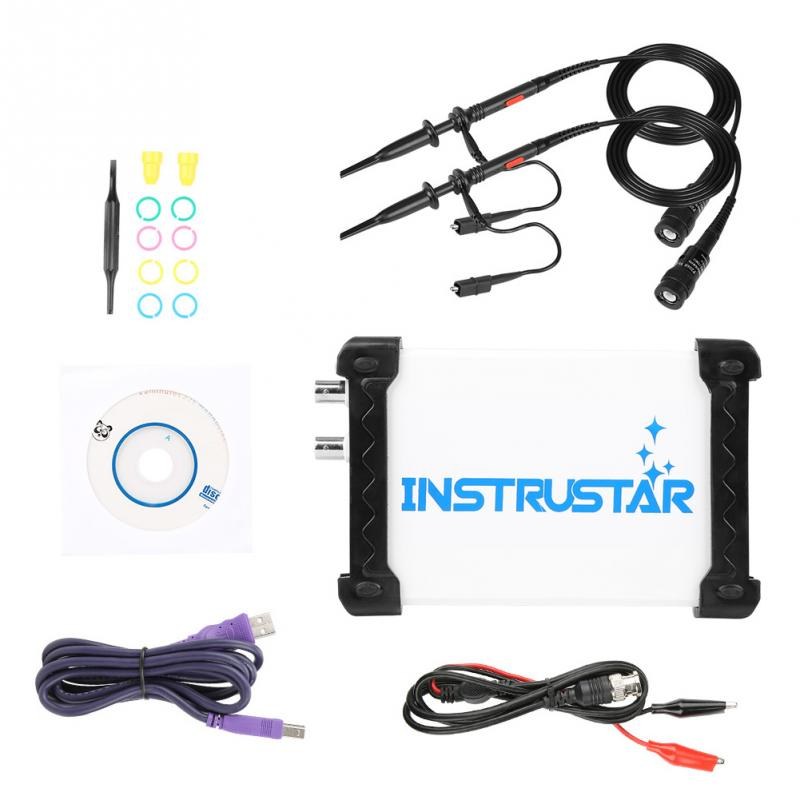 INSTRUSTAR ISDS205B USB Oscilloscope Kit 20MHz 48MS s Digital Oscilloscope Signal Generator Spectrum Analyzer Data Recorder