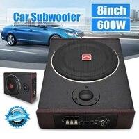 8 Inch 600W Car Subwoofers Speaker Active Subwoofer Car Under Seat Slim Sub Woofer AMP Super Bass Car Amplifier Speaker