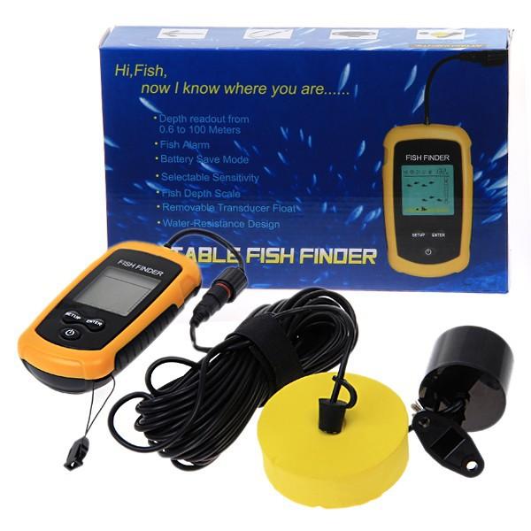 глубина жк-гидролокатора большой жк-дисплей рыба эхолот эхолот сигнализация 100 м подарок отголоска