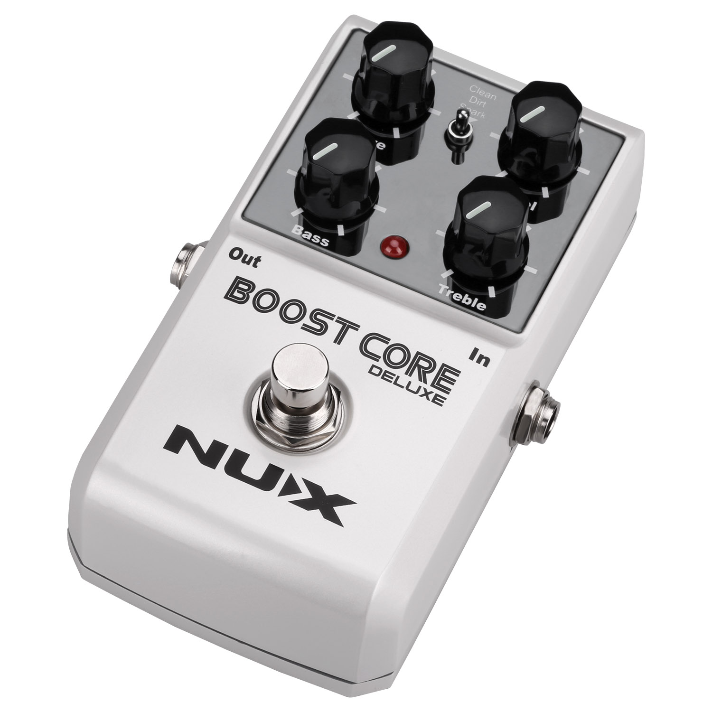 NUX Booster Core Deluxe pédale d'effets guitare Guitarra Booster Stompbox boostez votre ton véritable contournement