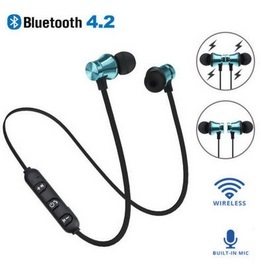 10pcs lot Bluetooth Earphone XT 11 Bass Stereo Headset Sport Running In ear Sweatproof Headphone Magnetic Wireless with Micphone in Bluetooth Earphones Headphones from Consumer Electronics