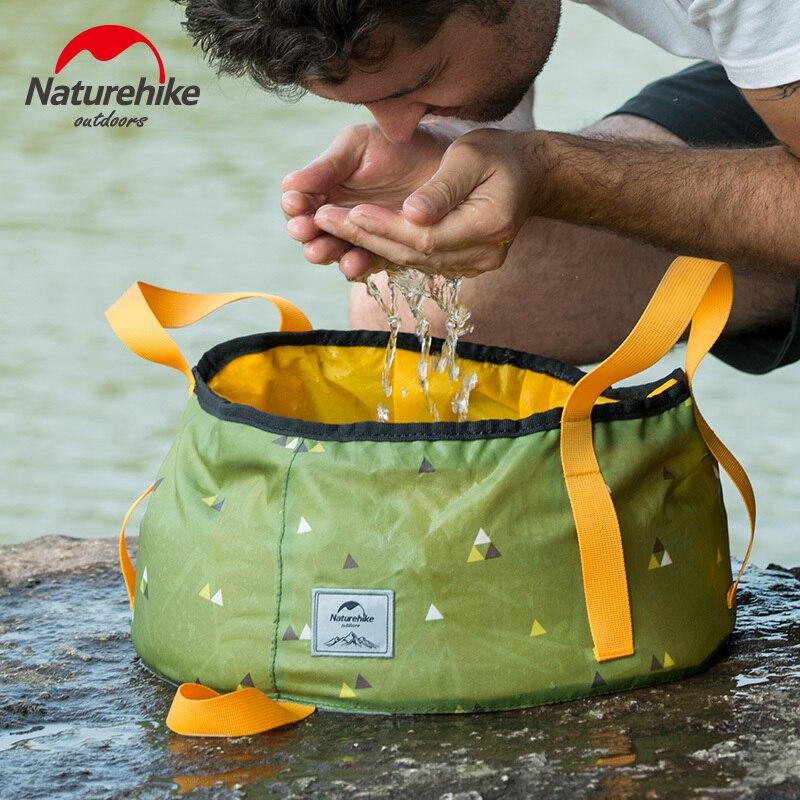 Naturehike Ultraleicht Faltbare 10L/16L Tragbare Eimer Outdoor Waschbecken Klapp Wasser Behälter Camping Picknick Waschen Eimer