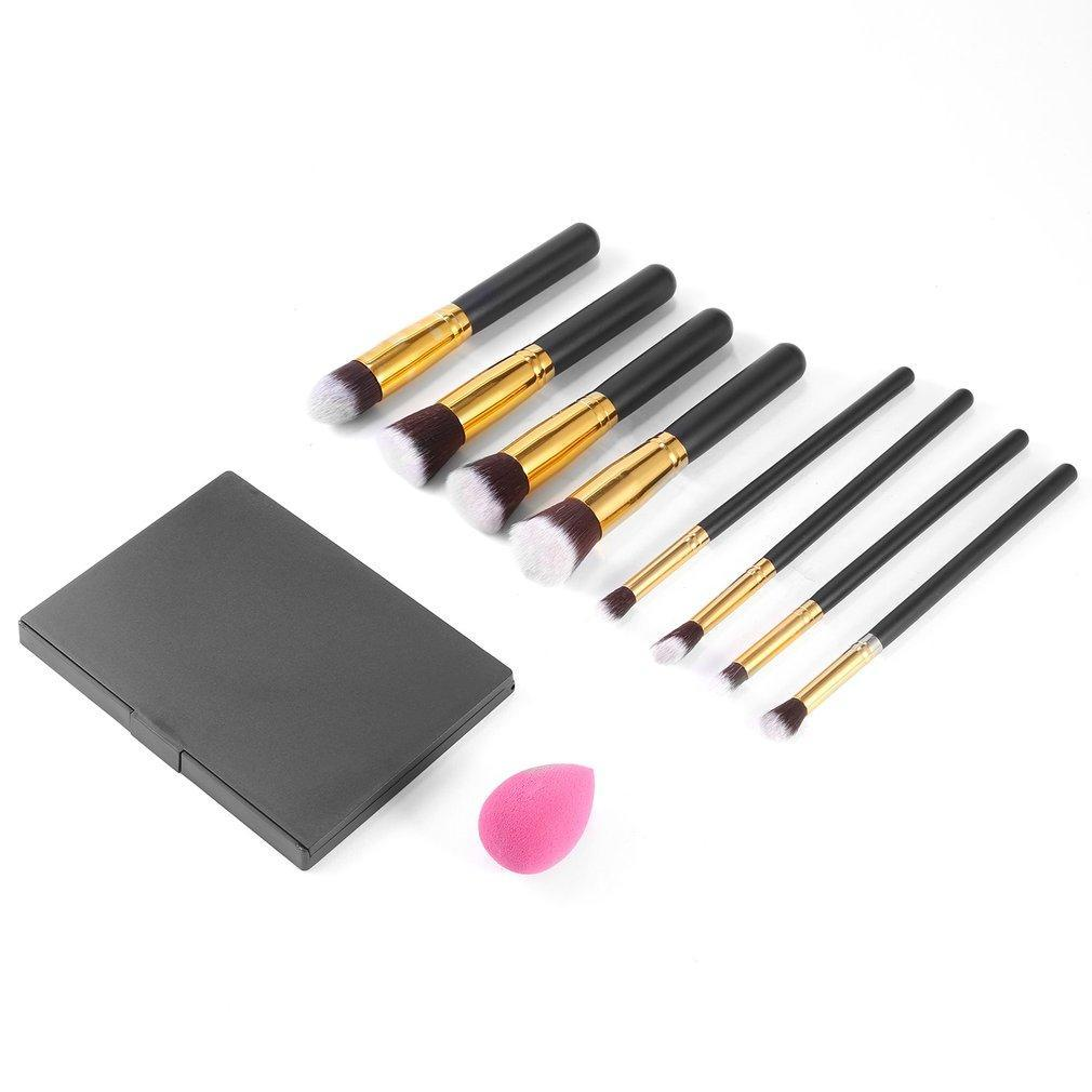 8pcs MakeUp Brushes Kit 15 Colors Concealer Palette Sponge Puff Makeup Set Kits Pro Facial Contour Palette Durable High Quality