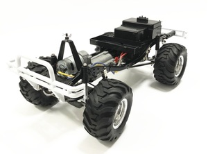 Image 4 - HG P407 1/10 2.4G 4WD 3CH Brushed Rally Rc Car for TOYATO Metal 4X 4 Pickup Truck Rock Crawler RTR Toy Black White Gifts Boys