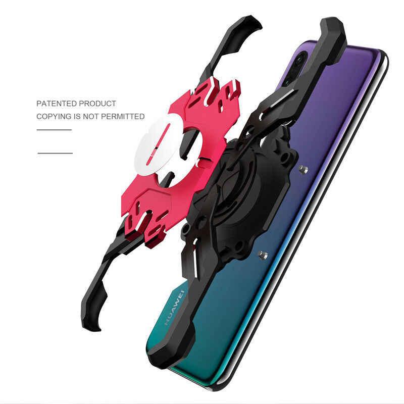 Per Huawei P20 P30 Pro di Lusso Sipder Ferro Bat Armatura di Alluminio Del Respingente Del Metallo di Caso della Pagina Del Basamento Della Copertura Coque Etuis A Portata di mano hulle