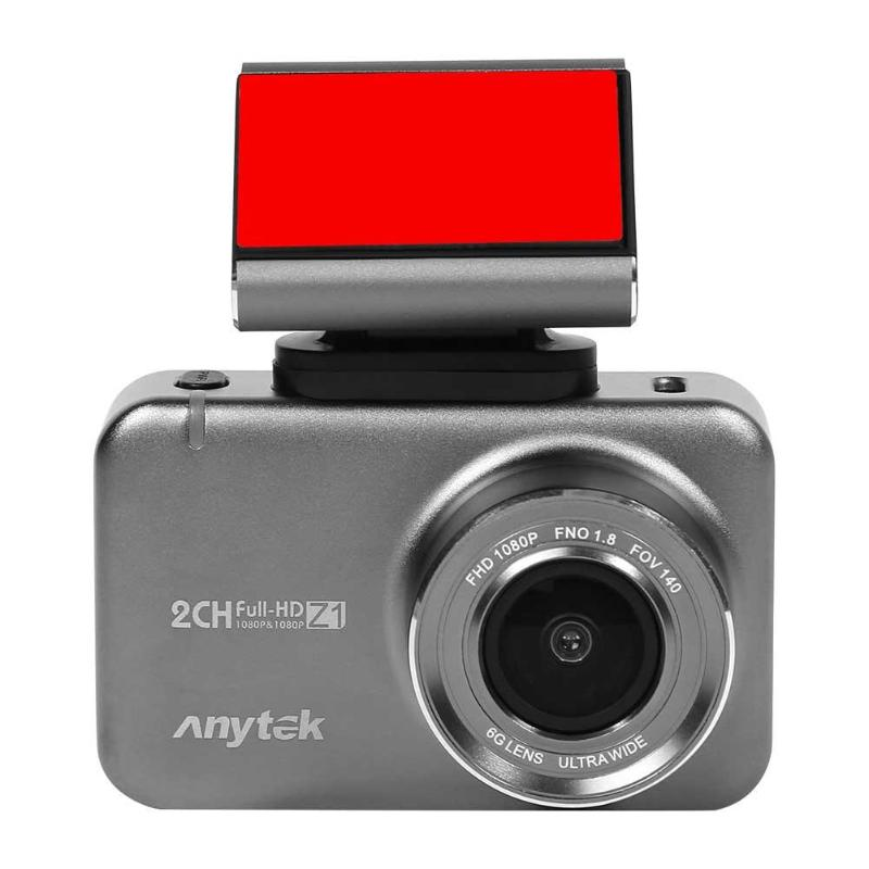 Anytek Z1 1080p HD Car DVR Camera 2.35 inch Touch Screen 150 Degree Wide Angle Dual Lens Dash Cam Rear Camera HD Recording