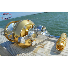 цена на Fishing Trolling Saltwater Metal Reel Spinning Baitcasting Drum Wheel Jigging Casting  Right Handle Aluminum Reel
