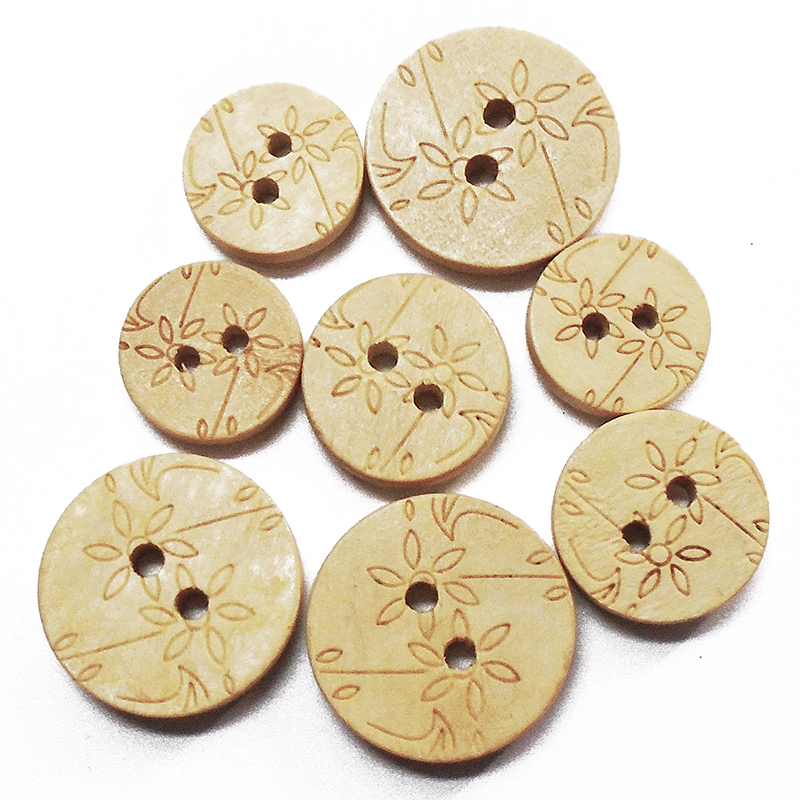 Mixed Colours Dog shape 2-holes  Wooden Buttons Sewing Crafts Scrapbooking 33mm