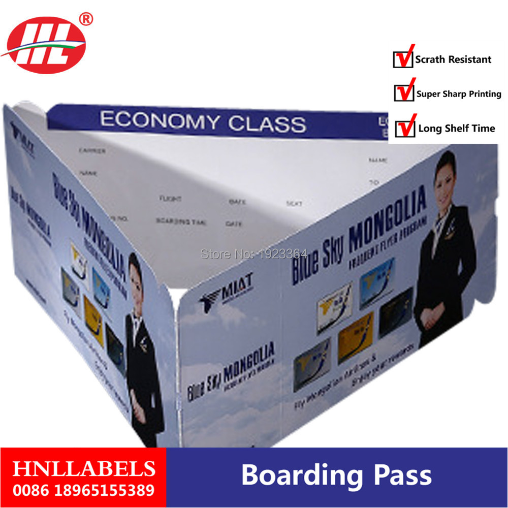 Customized Paper Boarding Passes For Airline