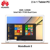 HUAWEI MateBook E Laptop 2 In 1 Tablet PC Windows 10 12 Inch 4GB 128GB SSD Dual WiFi 2.4GHz 5.0GHz Intel Core M3 7Y30 Notebook