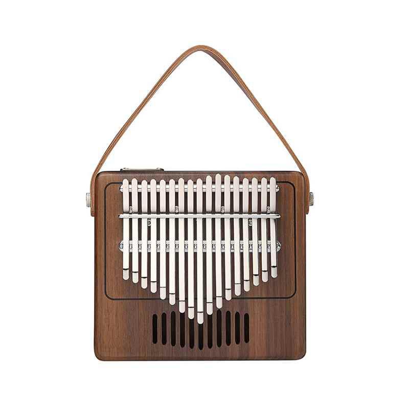 Nouveau Design 17 clés Kalimba Mbira noyer bois massif doigt pouce Piano clavier Instrument de musique Kalimba cadeau pour Tom Calimba