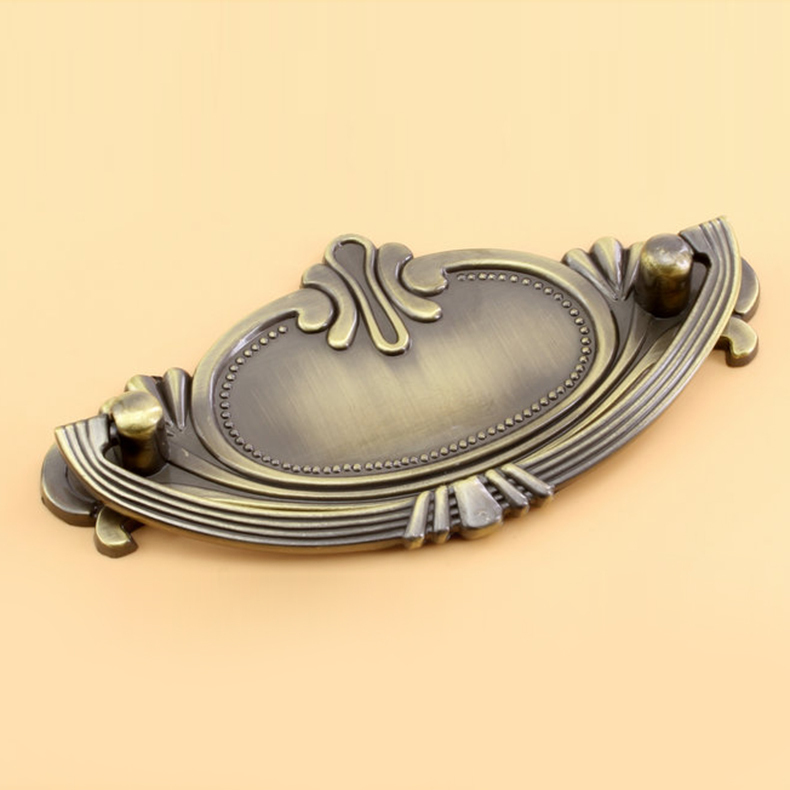 Antique Door Pulls Knobs Cabinet Kitchen Dresser Drawer Handles 64mm 96mm Hole Spacing Zinc Alloy Cpper And Bronze in Cabinet Pulls from Home Improvement