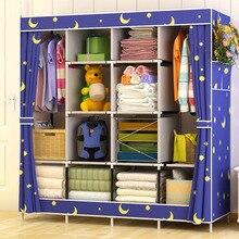 Wielofunkcyjny prosty montaż wzmocnienie duża szafa na ubrania spodnie przechowywanie organizuj szafkę JC002