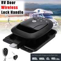 Car RV Keyless Entry Wireless Electric Trailer Caravan Boat Door Lock Latch Handle Zinc Alloy+Plastic Waterproof Dustproof