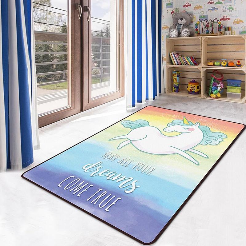 Bande dessinée bébé tapis de jeu jeu de sol doux Gym jouets pour enfants tapis rampant jouets enfants tapis licorne épais tapis doux