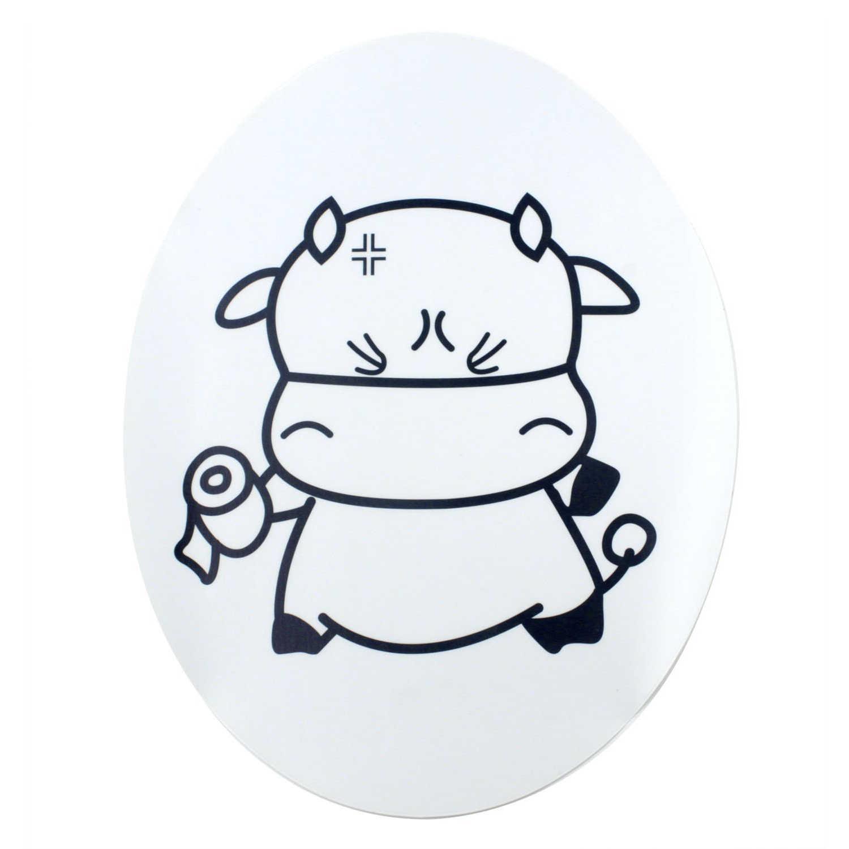 Фото Промо акция! Милый чехол для унитаза коровы наклейка наклейки