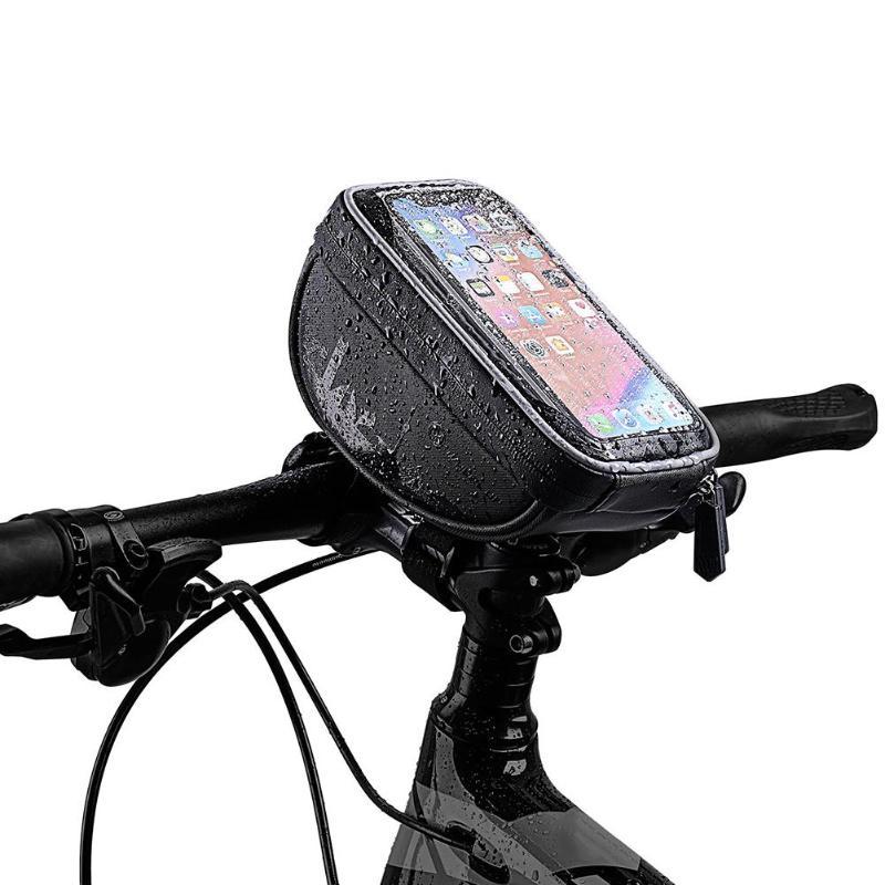 """Велосипедная сумка MTB дорожный водонепроницаемый светоотражающий сенсорный экран """" чехол для телефона велосипедная сумка верхняя Передняя труба рамка сумка аксессуары"""