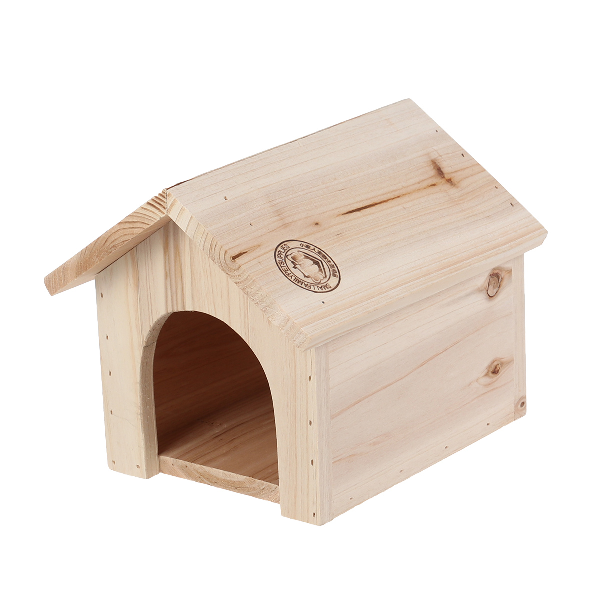 1Pc Wooden House Heat-resistant Pine Household Chinchilla Squirrel Nest Feeding Station Pet Supplies Sitting Shelve