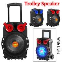 Trolley speakers High Power Bluetooth Audio Speaker Light Singing TFT Display USB TF Card BT Karaoke KTV System With Light