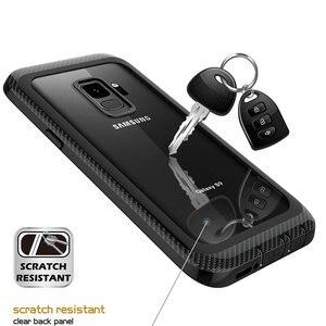 Image 4 - 삼성 갤럭시 S9 케이스 360 보호 전신 견고한 클리어 범퍼 케이스 내장