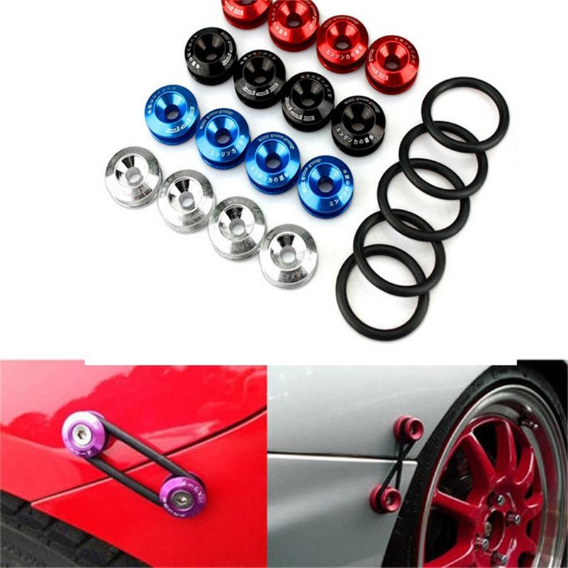 Chrome Quick Release Fasteners For Front Bumpers Rear Bumpers Surrounds Reinforcement Ring JDM