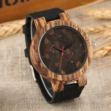 Retro Wood Watch Unique Broken Leaves Face Light Clock Bamboo Wooden Quartz Wristwatches Clock Male Hour Gift Light Wooden Watch light green brown dial wood watch minimalism simple wooden natural bamboo male female genuine leather gift clock reloj de madera