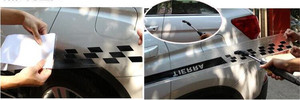 Image 5 - Black Auto Graphics Both Side Body Vinyl Decal Car Sticker Sports Racing Race Car Long Stripe Decals