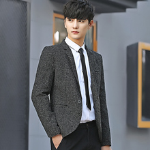 Slim Design men Suit Jacket Long-sleeved Business Casual men Blazer Coats Asian