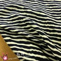 Tecidos African Fabric Silk Fabric Free Shipping The Original Sufeng Sen Tie Soft Navy Zebra Printed Viscose Stripe Dress Cloth