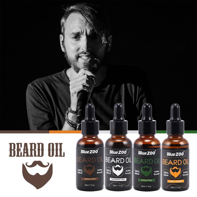 Natural Men Growth Beard Oil Organic Beard Wax Balm 30ml Beard Enhancer Moustache Grow
