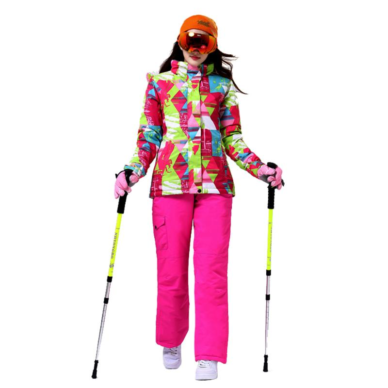 Winter Snow Suits Women Ski Suit Female Snow Clothes Pants Windproof Waterproof Colorful Clothes Snowboard SetsWinter Snow Suits Women Ski Suit Female Snow Clothes Pants Windproof Waterproof Colorful Clothes Snowboard Sets