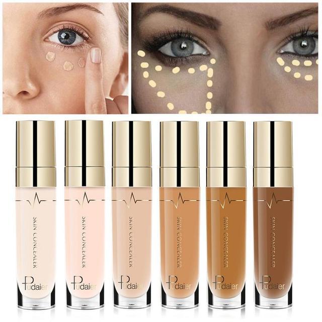 Pudaier líquido corrector crema cara labio ojo base Fundación corrector impermeable cara maquillaje corrector cometics