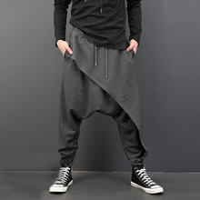 Men Joggers Casual Baggy Sweatpants Cotton Loose Men Streetwear Pants Dance Wear Fitness Track Pants Hip Hop Cool Streetwear New(China)