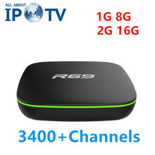 Original R69 Tv Box Best Arabic UK USA Iran Israel French Poland Middle East EVDTV Iptv R69 Android Set Top Box(China)