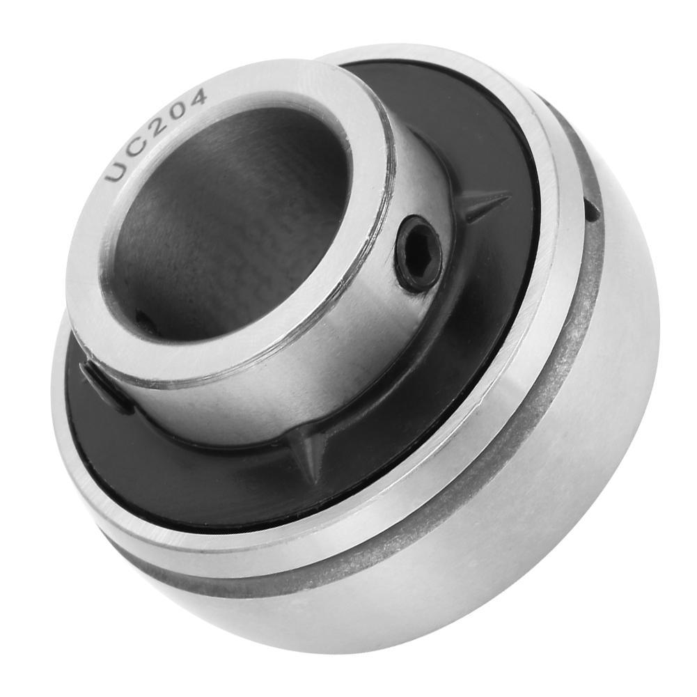 uxcell SB202 Insert Bearings 15mm Bore Diameter Chrome Steel Set Screws Lock