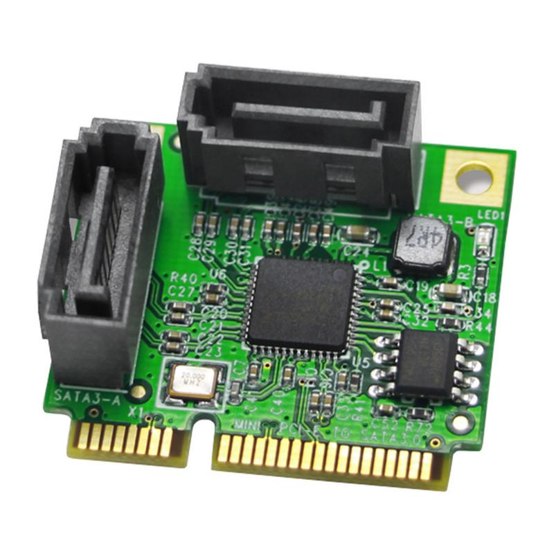 2*SATA3.0 Mini ASM1061 Chip Pci-e To Sata3.0 Expansion Card Mini Interface Hard Disk Interface Expansion Card Riser Card2*SATA3.0 Mini ASM1061 Chip Pci-e To Sata3.0 Expansion Card Mini Interface Hard Disk Interface Expansion Card Riser Card