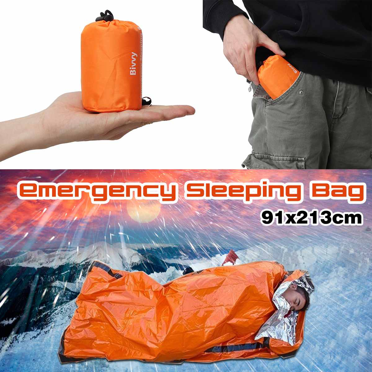 91X213CM Camping Portable Emergency Blanket First Aid Survival Rescue Curtain Life-Saving Tent Tools Survive Tool91X213CM Camping Portable Emergency Blanket First Aid Survival Rescue Curtain Life-Saving Tent Tools Survive Tool