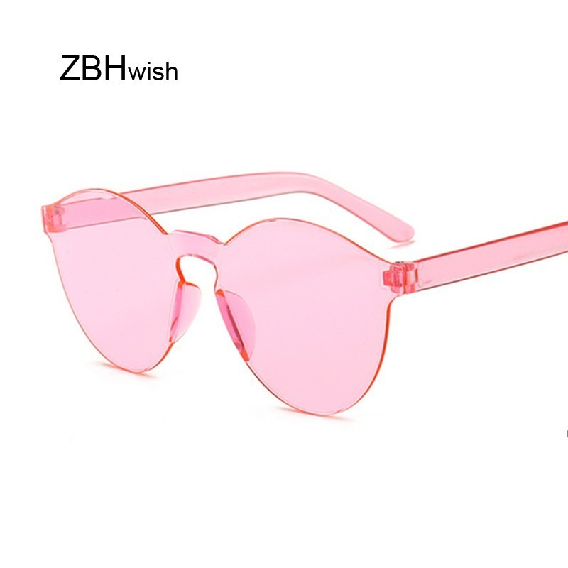 New Fashion Rimless Vintage Round Mirror Sunglasses Women Luxury Brand Original Design Sun Glasses Female Oculos Feminino