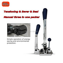 Combination Strapping Tools Tensioner Sealer Cutter All-in-One Manual Banding Tool for Polyproplyn 1/2