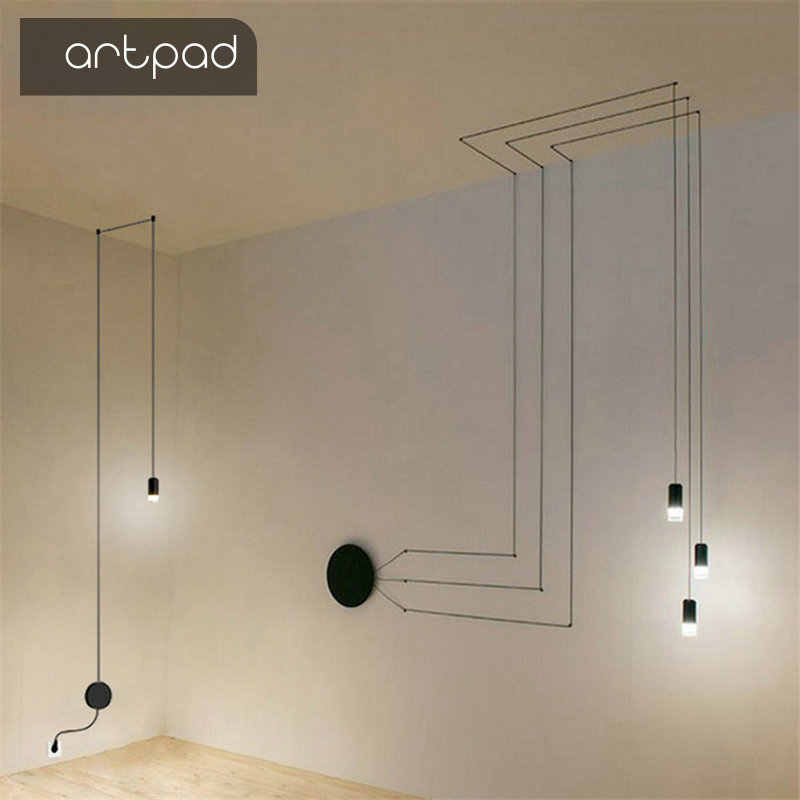 Industrial Art DIY Wall Lamp Long Arm Black Wall Light Simple Wall Mounted  LED Wrought Metal Hanging Lamps Bedroom Living Room