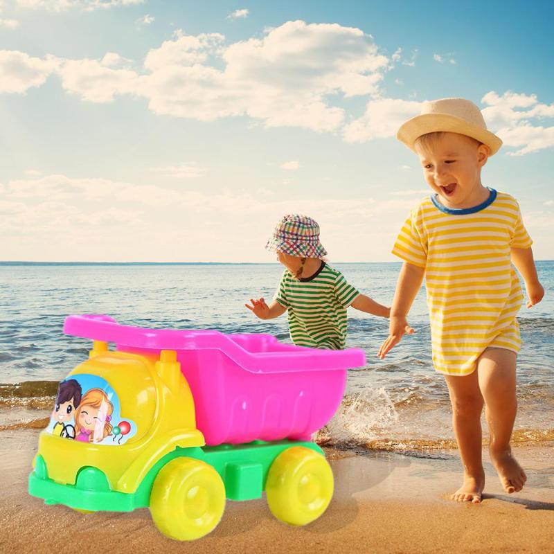 Children Summer Beach Sand Car Play Toy Sand Water Kids Toy Seaside Bucket Kit Swimming Water Dredging Toys For Children